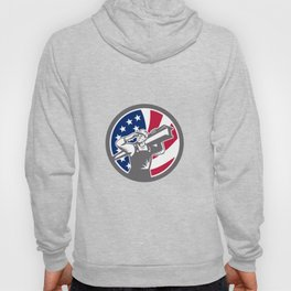 American Construction Worker USA Flag Icon Hoody