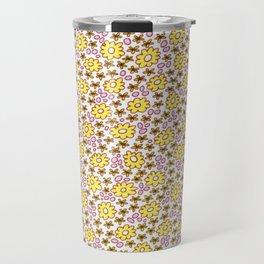 Ditsy Flora Yellow Travel Mug