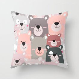 BEAR #5 Throw Pillow