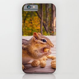 Two Chipmunk In A Peanut eating contest iPhone Case