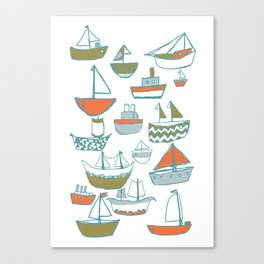 Hey Little Boat Canvas Print