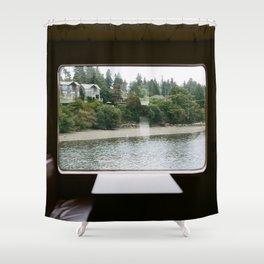 Ferry Ride to Bainbridge Island, WA Shower Curtain