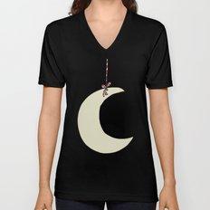 Moon Hanging Unisex V-Neck