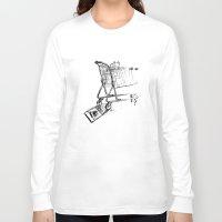 shopping Long Sleeve T-shirts featuring Shopping Cart by Brontosaurus