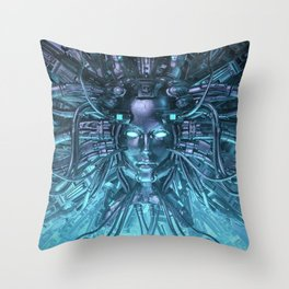 Mind of the Machine Throw Pillow
