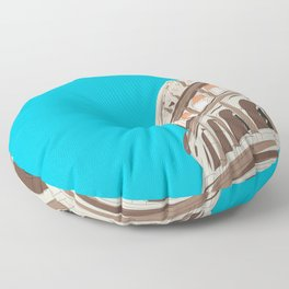 Rome, Italy Colosseum Travel Poster Floor Pillow