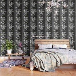 Black and White Paper Cranes Wallpaper