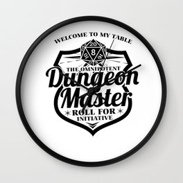 Dungeon Master Gamer RPG Cube funny gift Wall Clock
