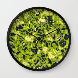 QRS Nonsense Pattern Wall Clock