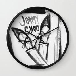 choo shoes Wall Clock