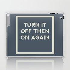 Turn it off then on again Laptop & iPad Skin
