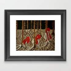 people in nature  Framed Art Print