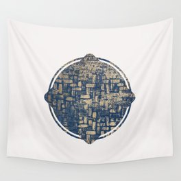 Blue Squircle Wall Tapestry