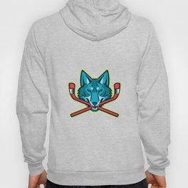 Coyote Ice Hockey Sports Mascot Hoody