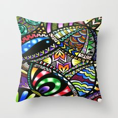 Carnival of Colour Throw Pillow