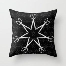 Rockstar Hairstylist (Black) Throw Pillow