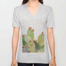 Cactus Watercolor 3 Unisex V-Neck