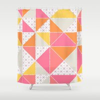 girly Shower Curtains featuring Girly Geometry by micklyn