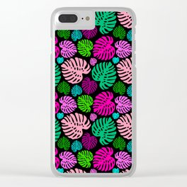 Simply Monstera in Multi + Black Clear iPhone Case