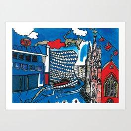 A depiction of Birmingham, UK Art Print