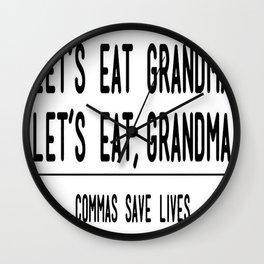 Let's Eat Grandma - Commas Save Lives Wall Clock
