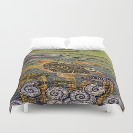 Fish Of The Sea Duvet Cover