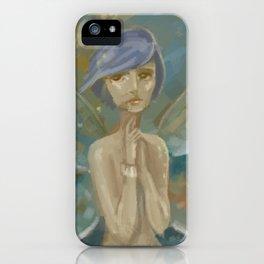 Fantasy Blue Hair Moth iPhone Case