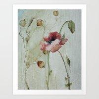 poppy Art Prints featuring poppy by beautifyprints