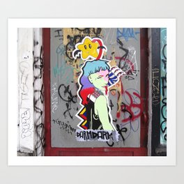 Graffiti Art Door Art Print