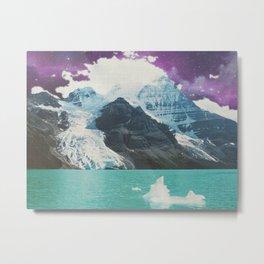 Space Mountains Metal Print