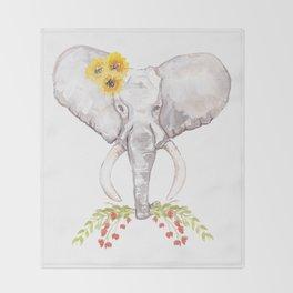 welcoming elephant Throw Blanket