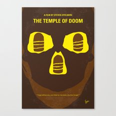 No517 My The temple of doom minimal movie poster Canvas Print