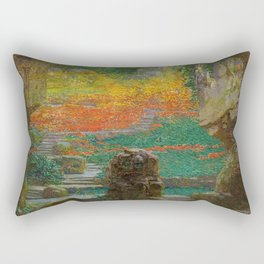 Autumn in the Green Grotto by Karel Vitezslav Masek Rectangular Pillow