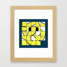 Acid Smiley Shuffle Puzzle Framed Art Print