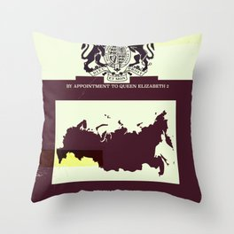 Soviet Union vintage style map cover Throw Pillow