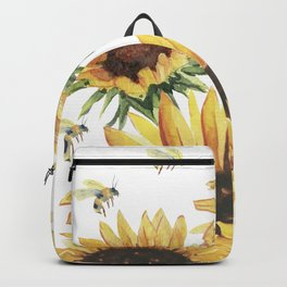 Sunflowers and Honey Bees Backpack