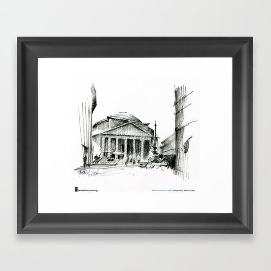 "Matthew Brehm, ""Roma Pantheon"" Framed Art Print"