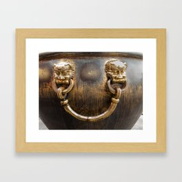 Chinese Water Cistern Framed Art Print