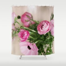 Pink Ranunculus Shower Curtain