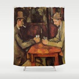 The Card Players Paul Cézanne Shower Curtain