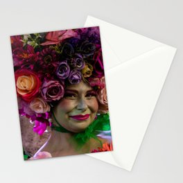 Flower lady Stationery Cards