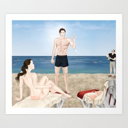 bikini blunder Art Print