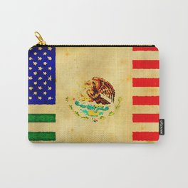 MEXICAN AMERICAN FLAG - 017 Carry-All Pouch