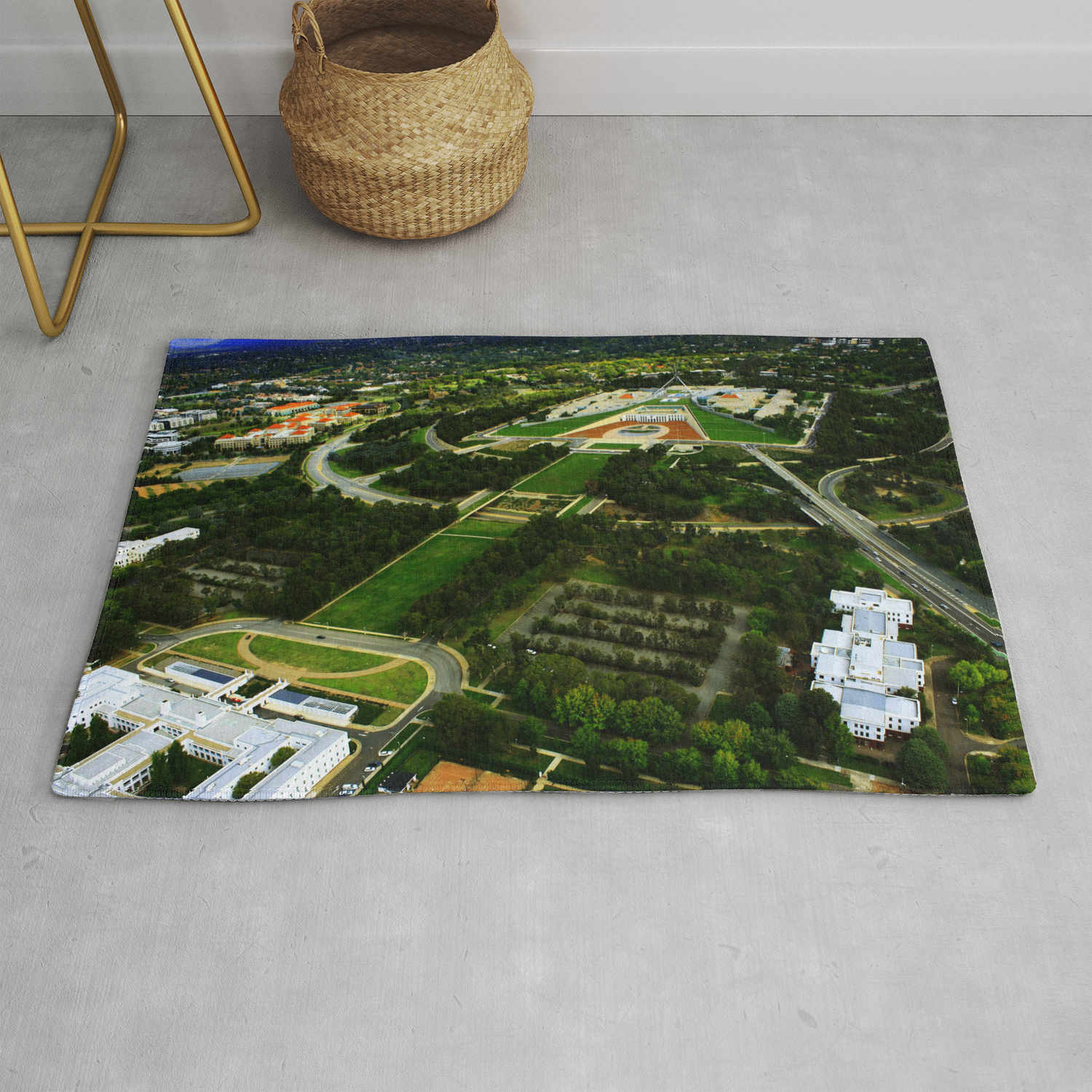 Canberra And Parliament Rug By