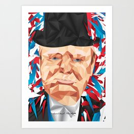 Portrait of Sir Winston Churchill Art Print