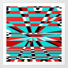Grid Square TV Crazy Art Print