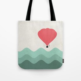 The Hot Air Balloon {The Boring Afternoon Design Series} Tote Bag