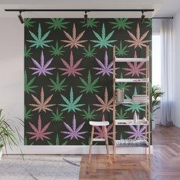 Marijuana Muted Colors Wall Mural