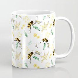 Abstract Hybrid Colored Spring Bee with Brenches Coffee Mug