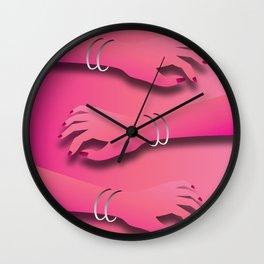 hands of femmes Wall Clock